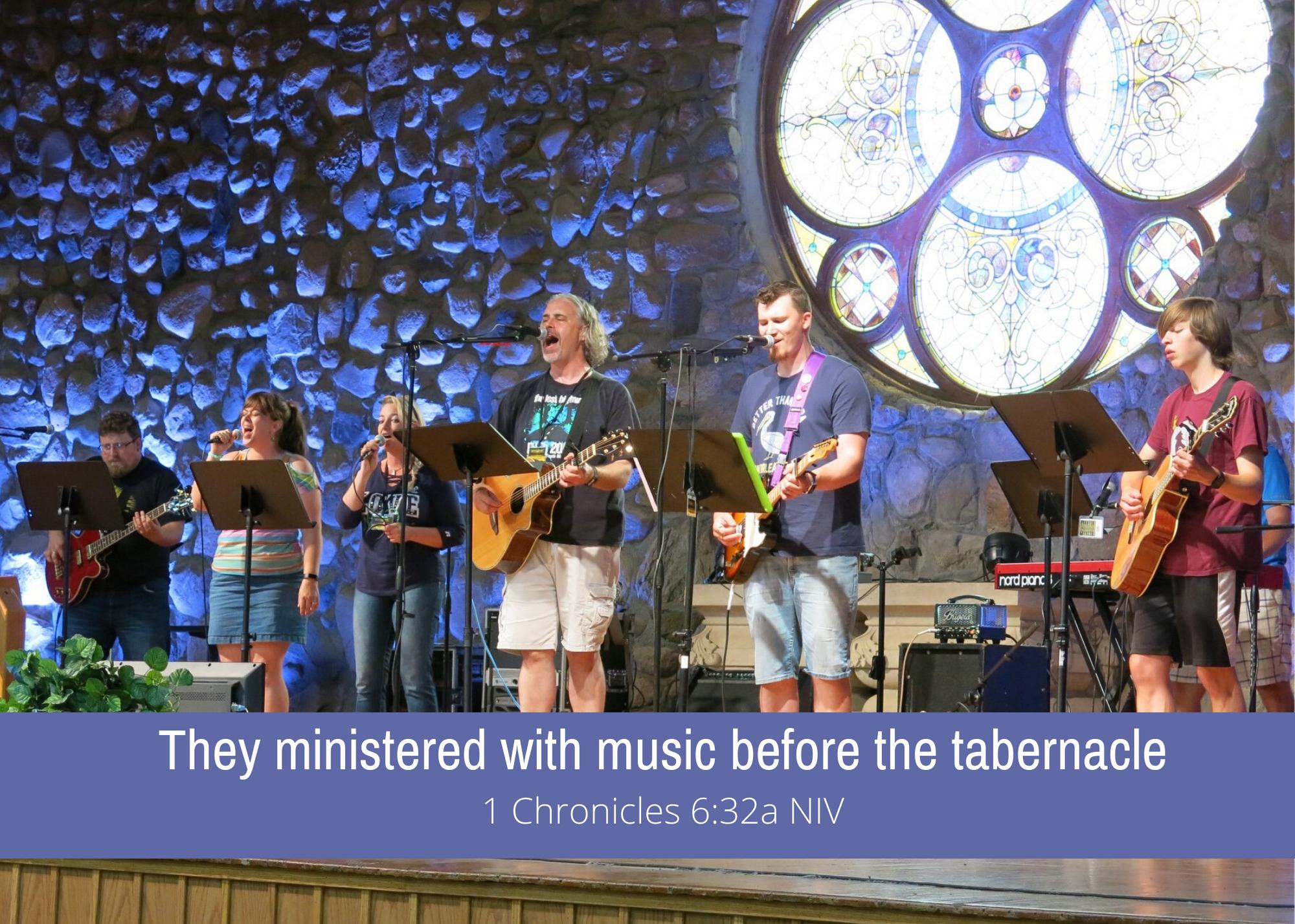 1 Chronicles 6 32a NIV