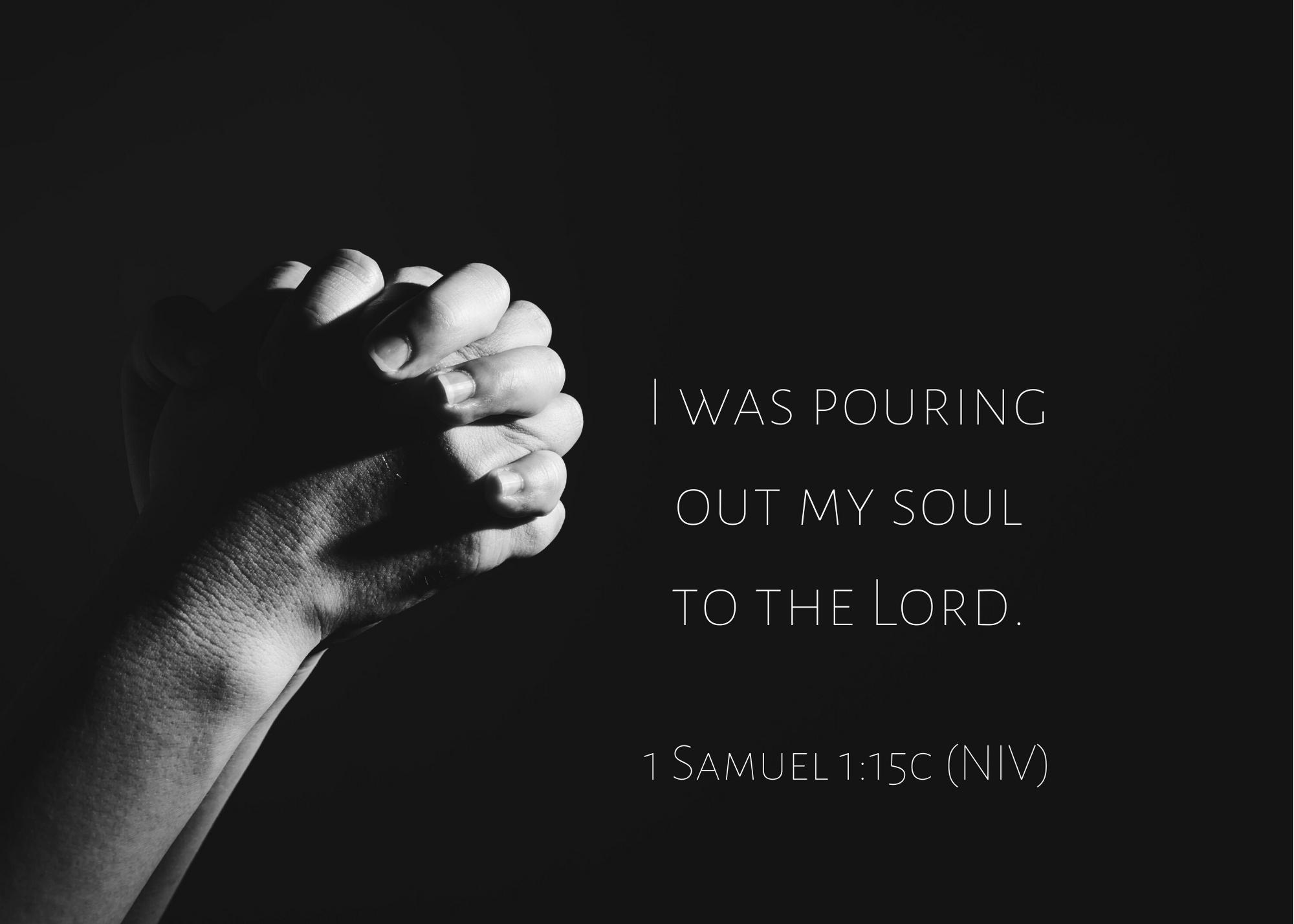 1 Samuel 1 15c NIV