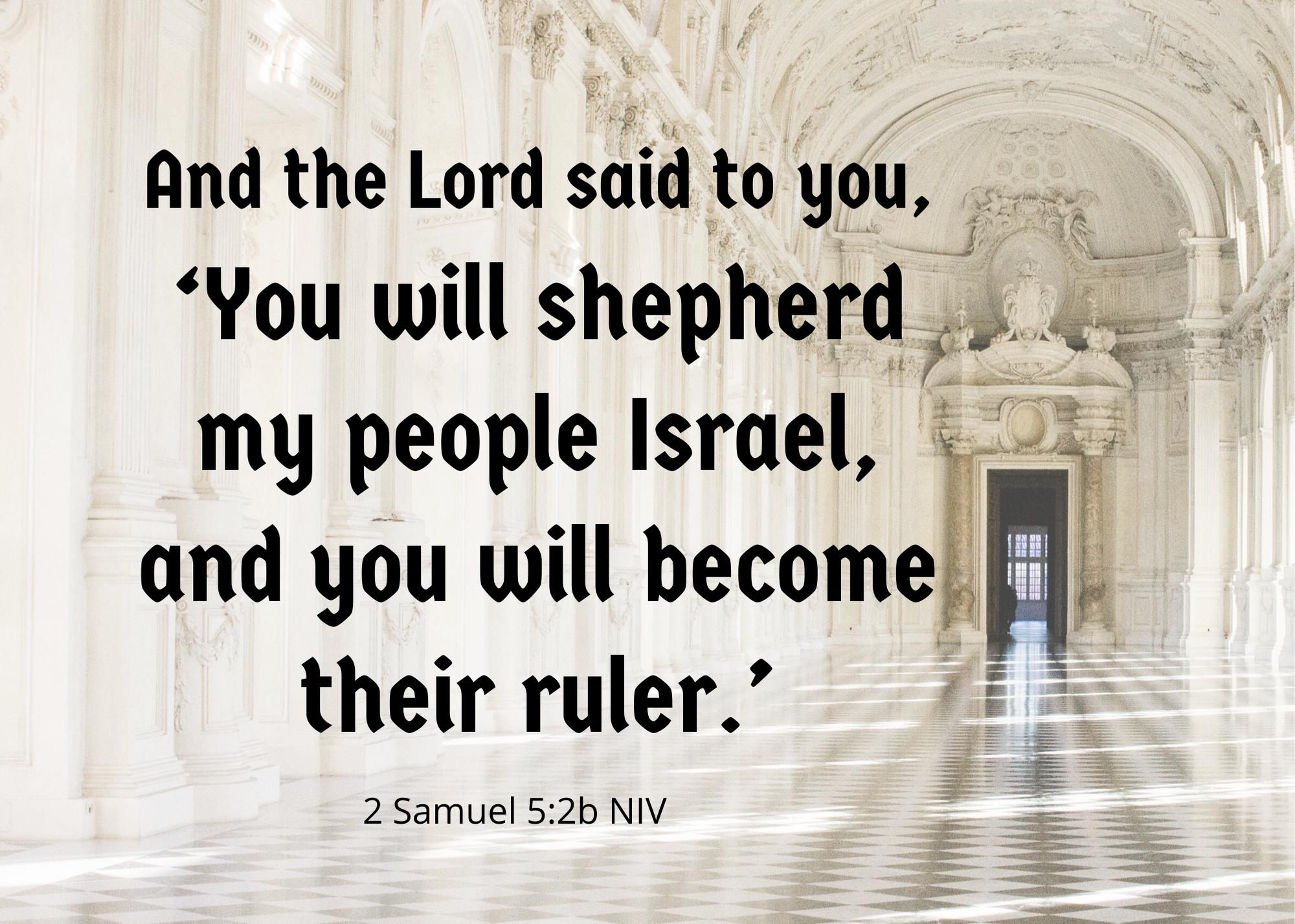 2 Samuel 5 2b NIV