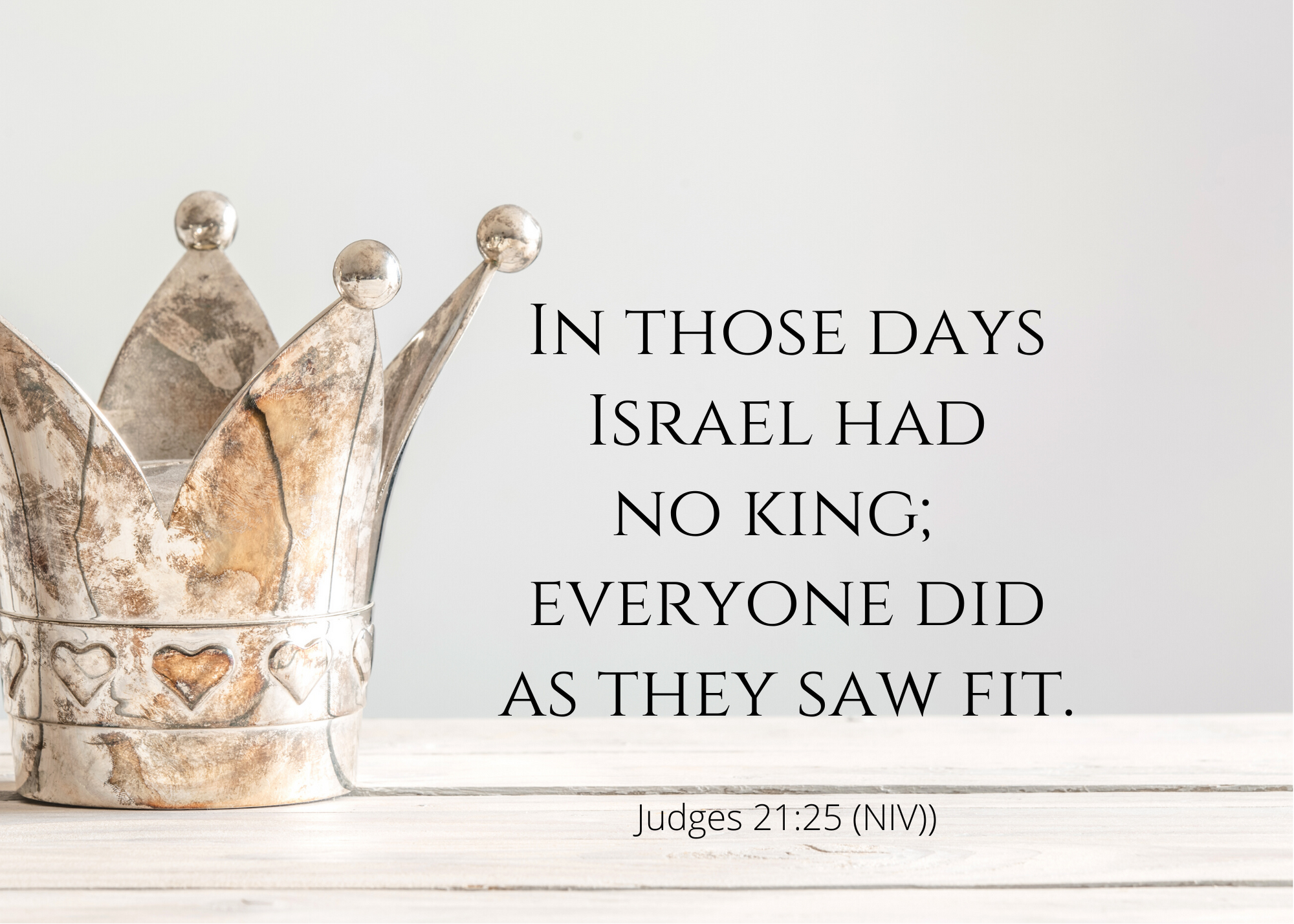 Judges 21 25 NIV