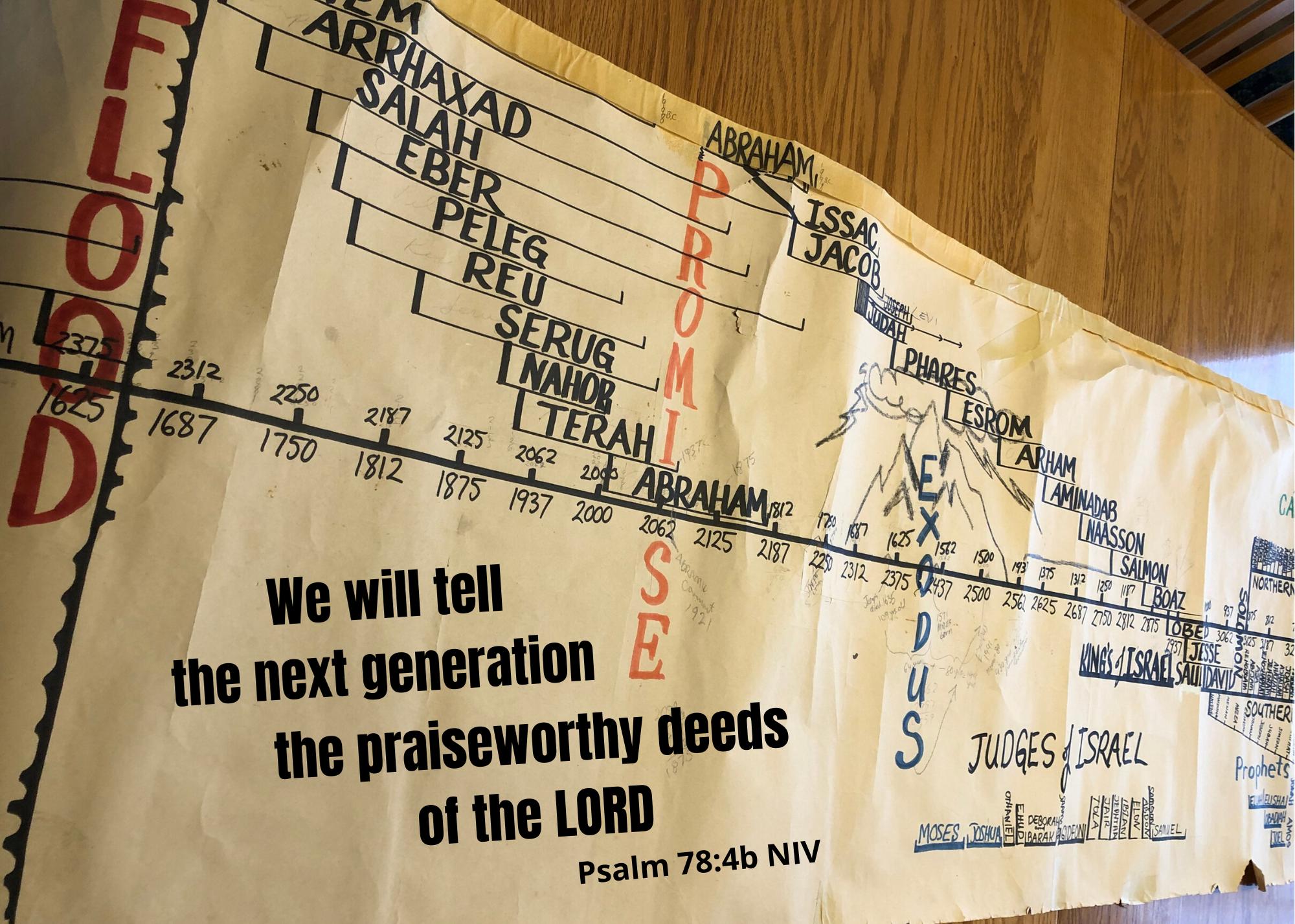 Psalm 78 4b NIV
