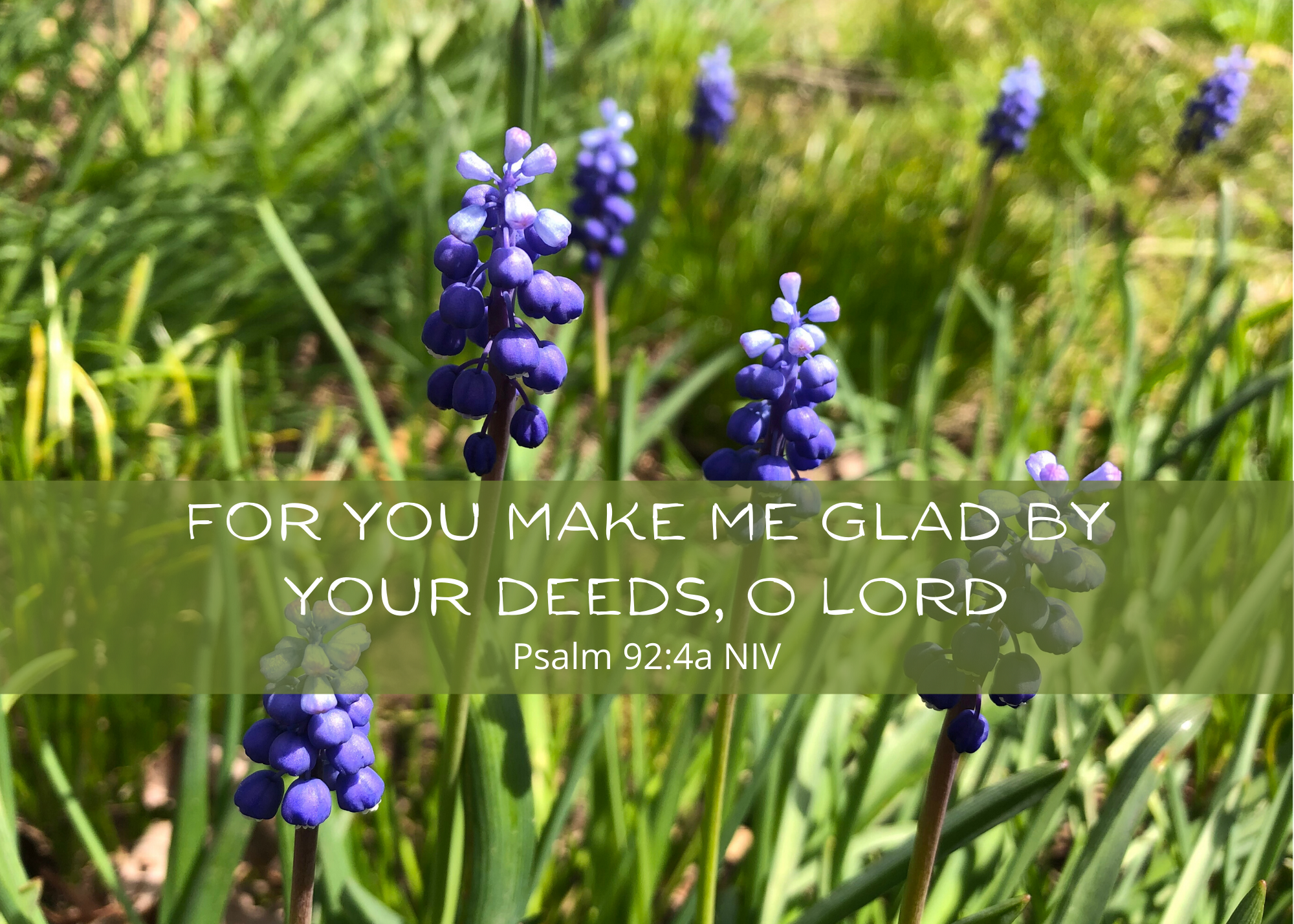 Psalm 92 4 NIV