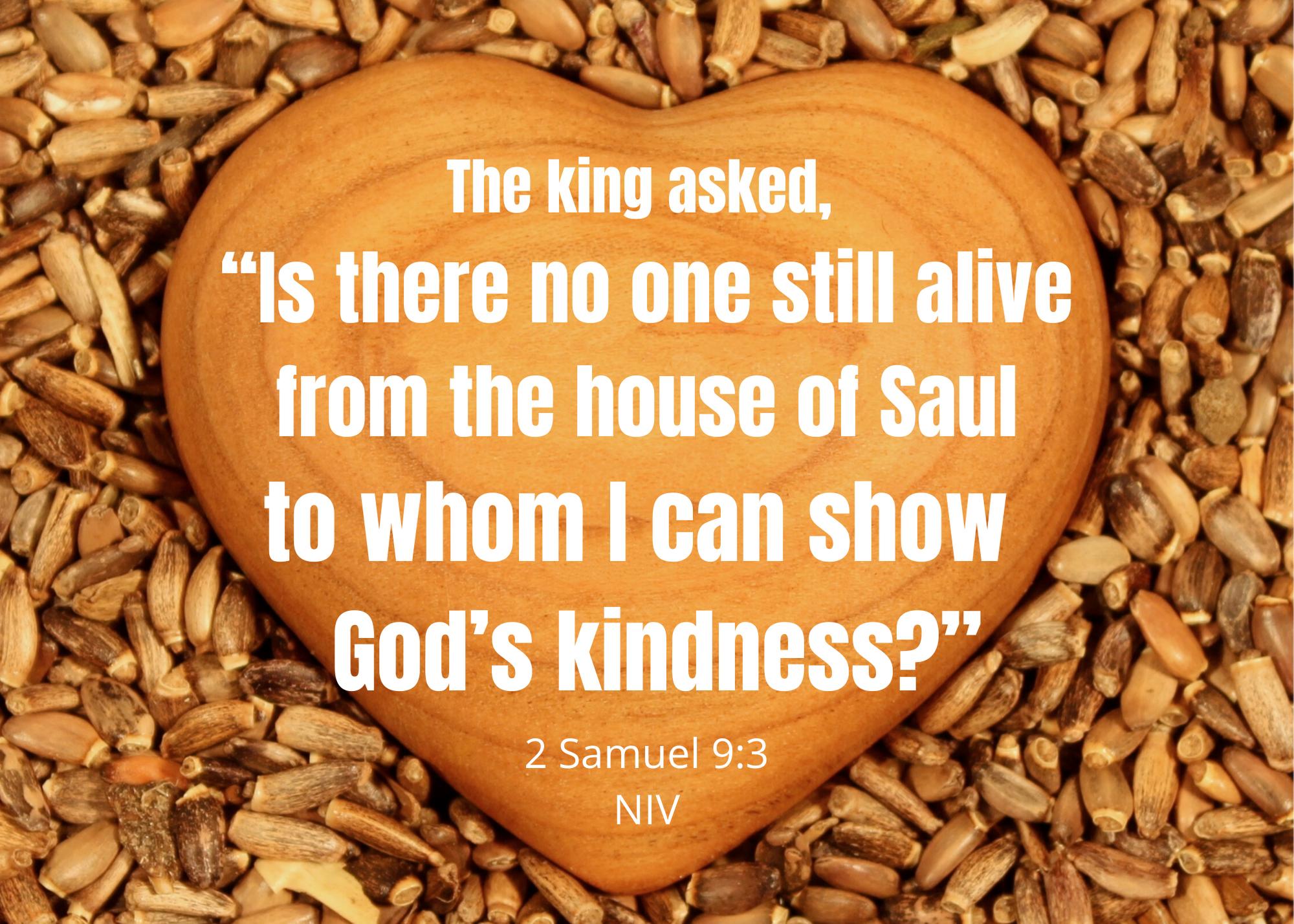 2 Samuel 9 3 NIV