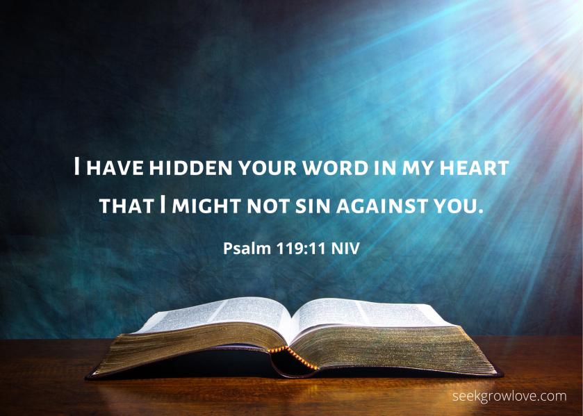 Psalm 119 11 NIV sgl