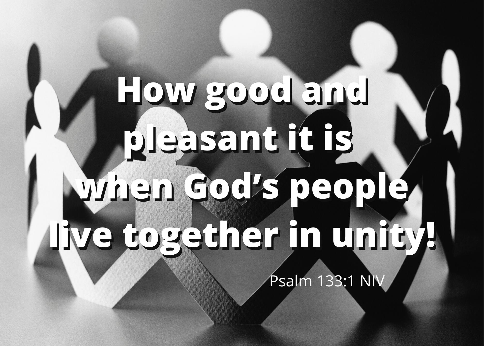 Psalm 133 1 NIV