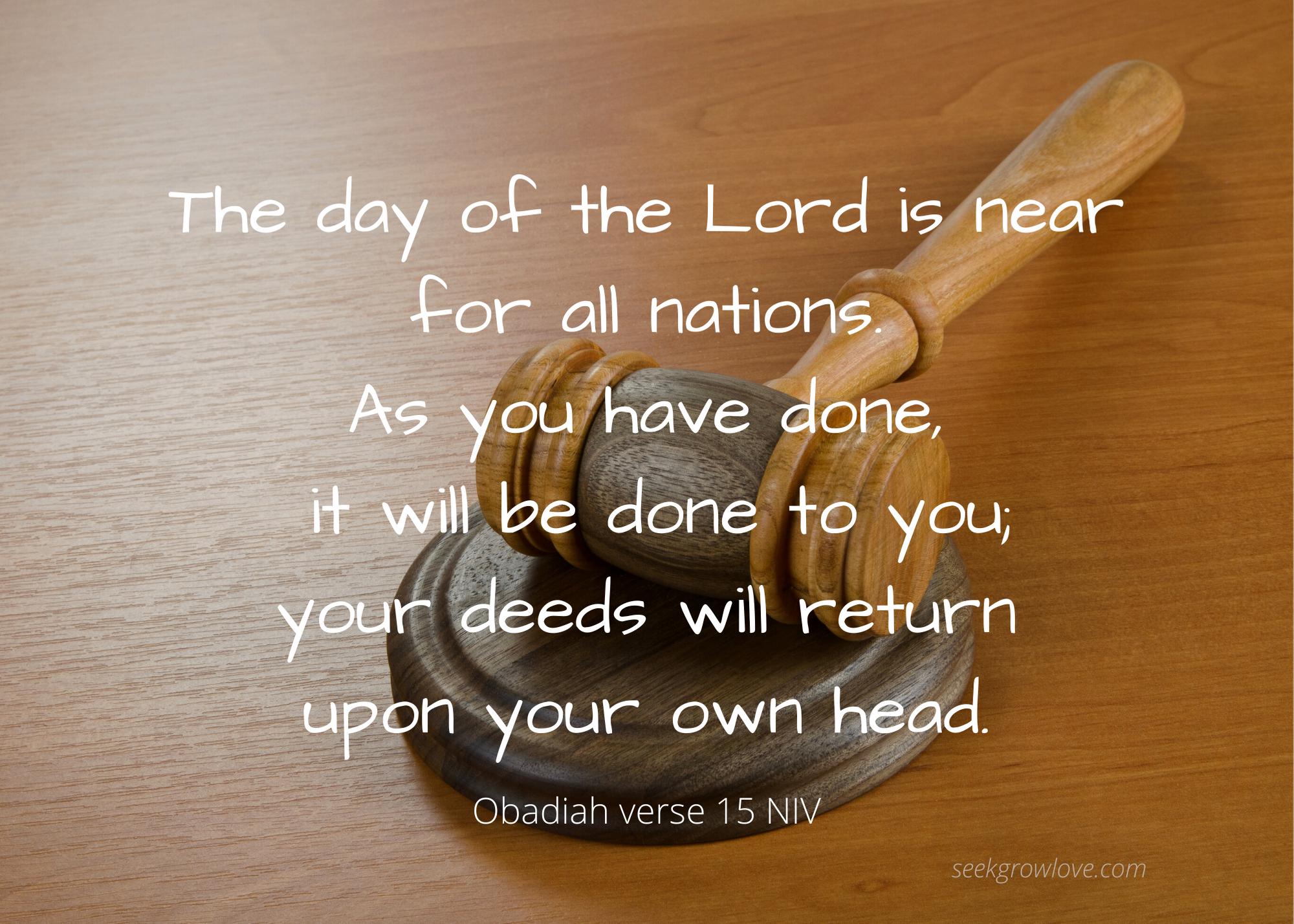 Obadiah 15 NIV sgl