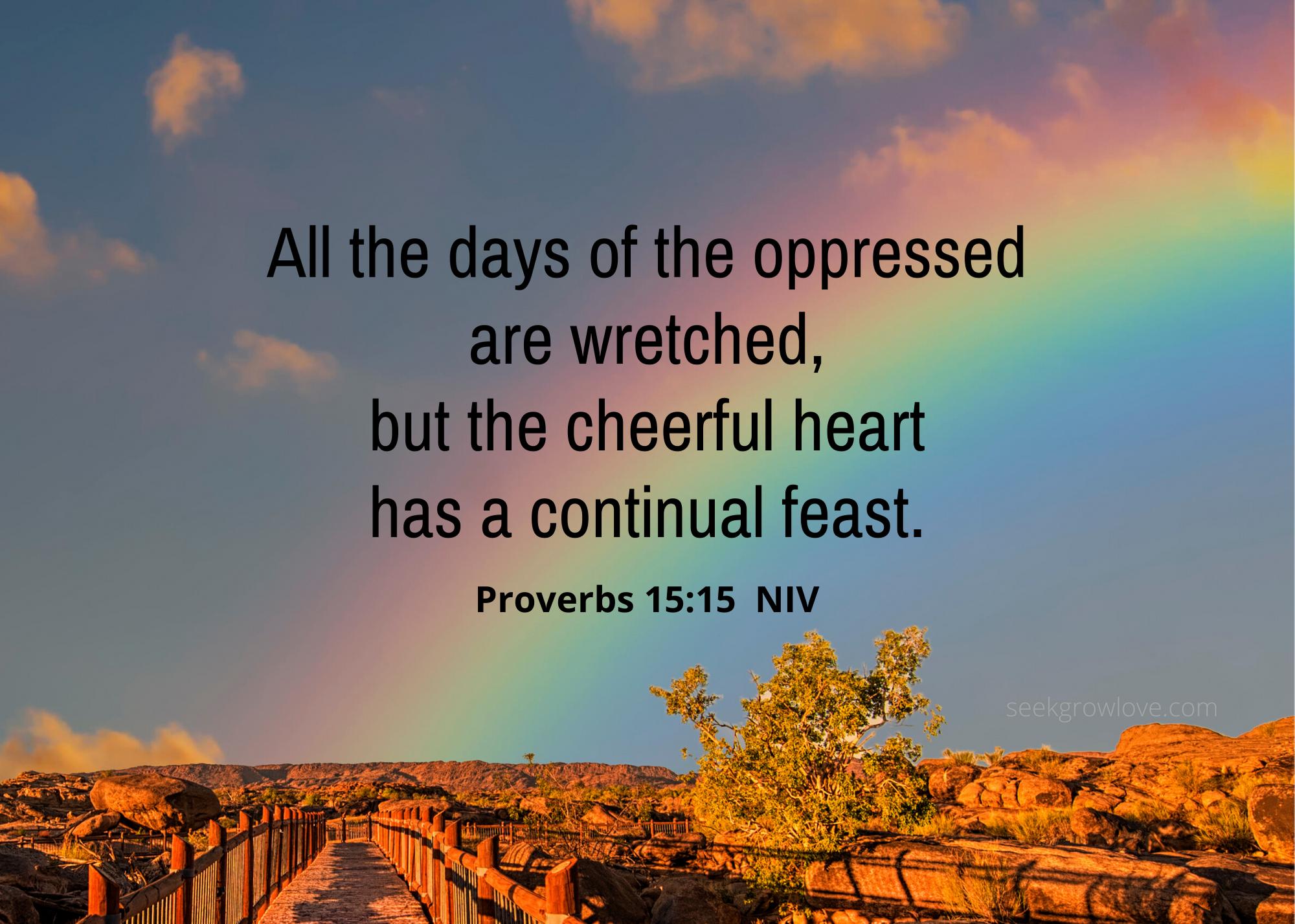 Proverbs 15 15 NIV sgl