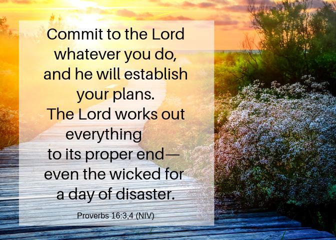 Proverbs 16 3 4 NIV