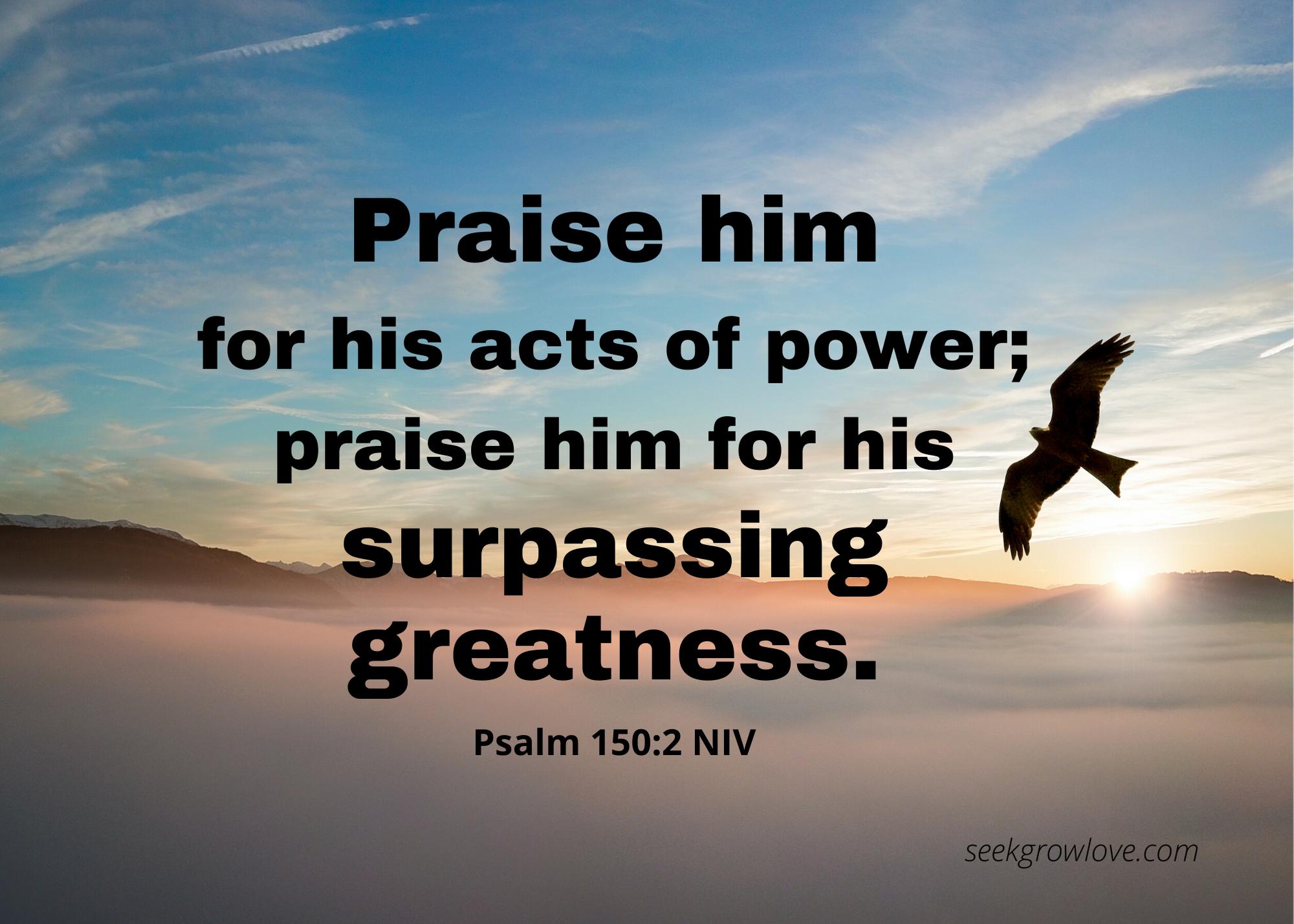 Psalm 150 2 NIV sgl
