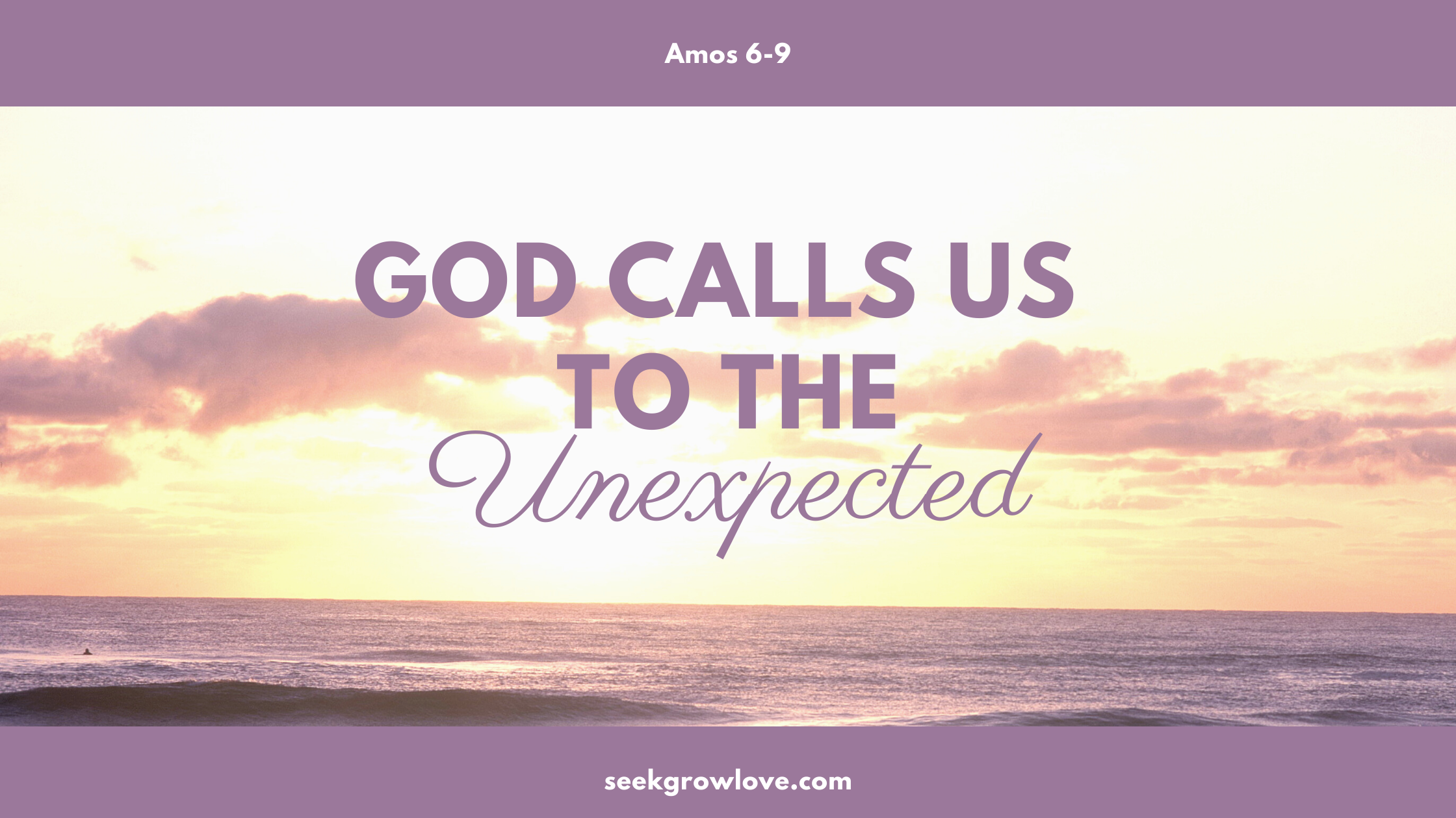 God Calls Us to the