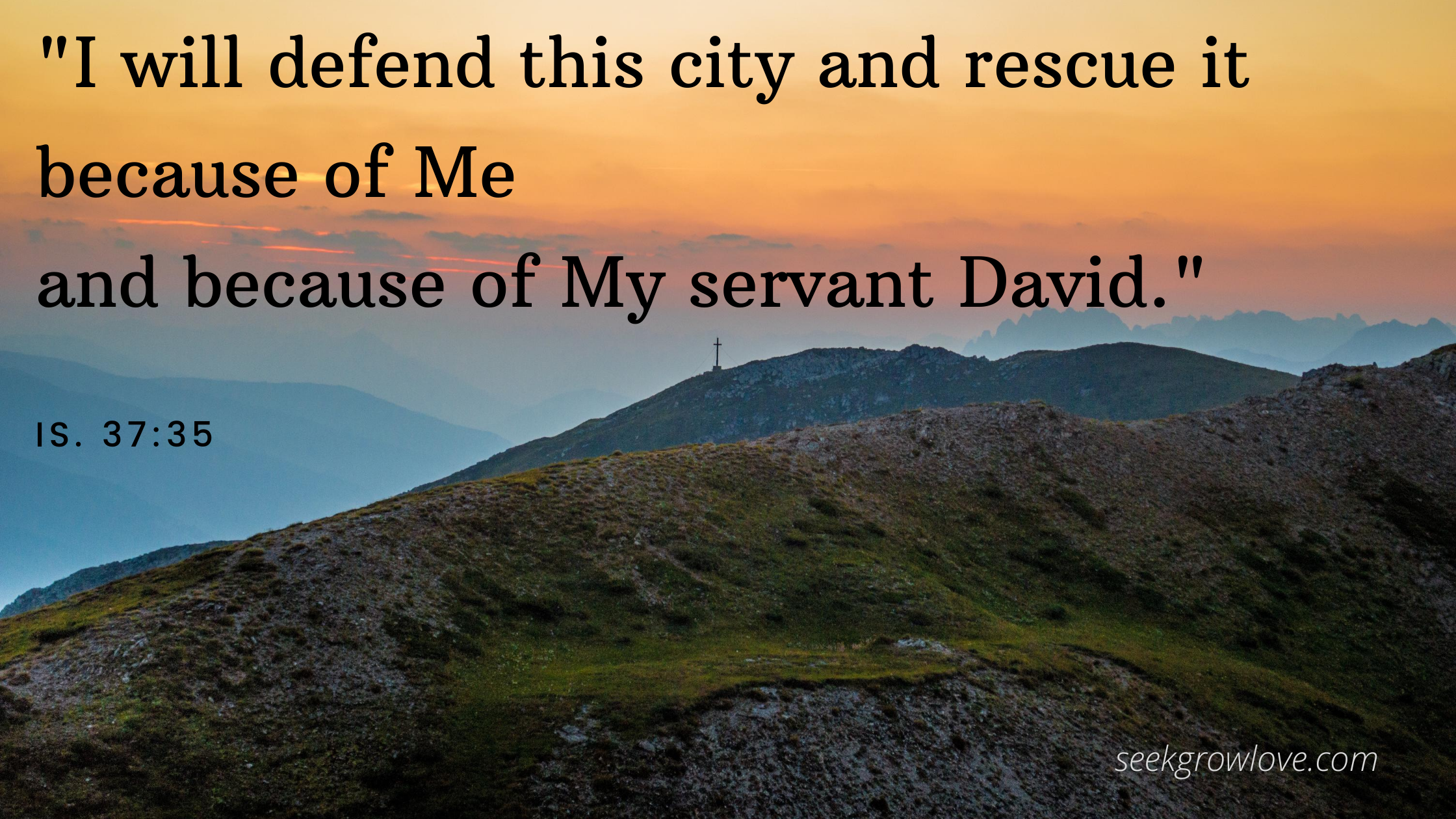 I will defend this city and rescue it because of Me and because of My servant David._