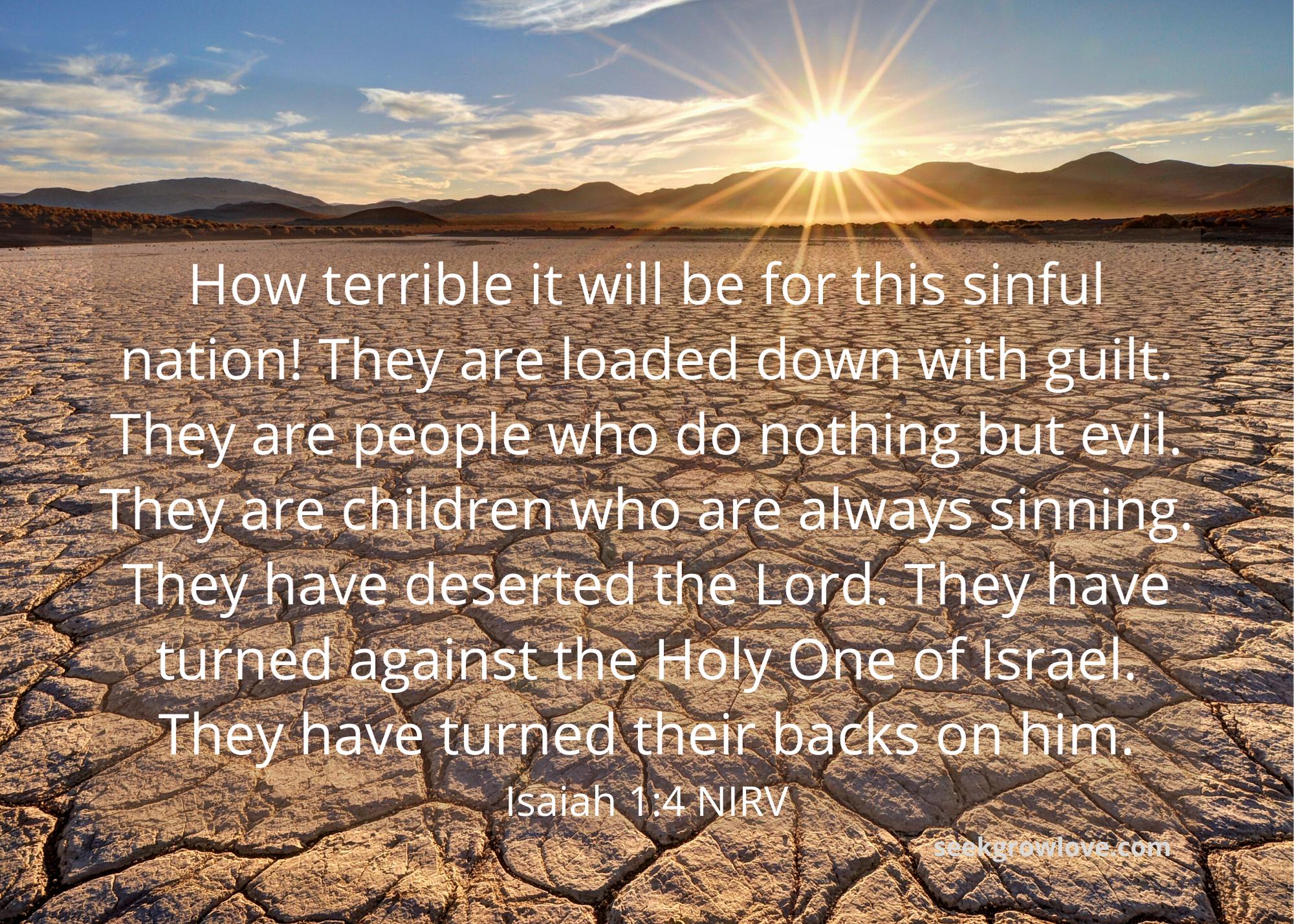 Isaiah 1 4 NIRV sgl