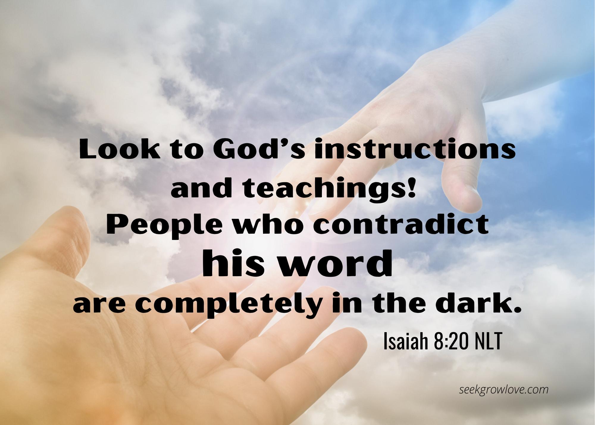 Isaiah 8 20 NLT sgl