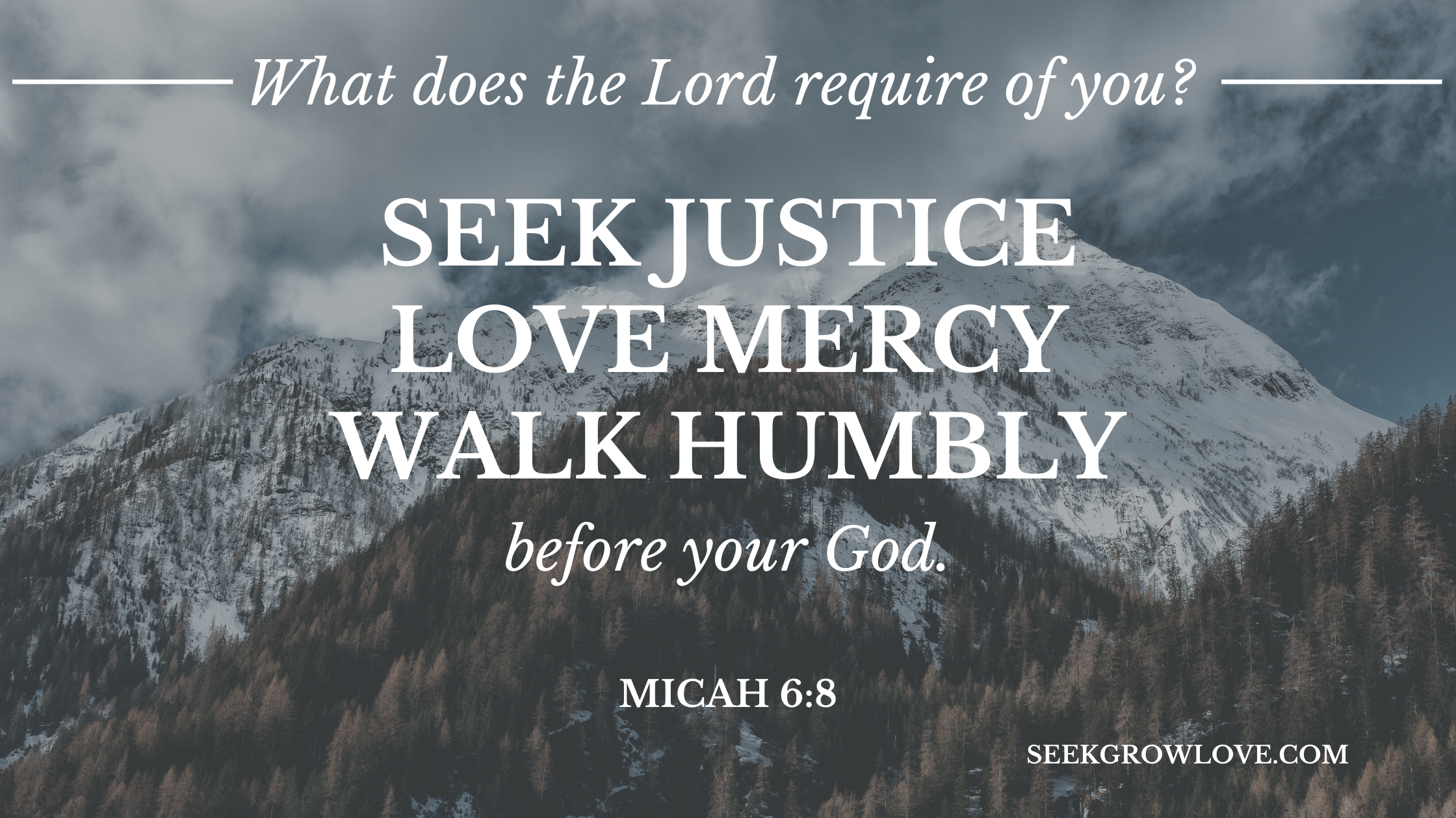 What does the Lord require of you_