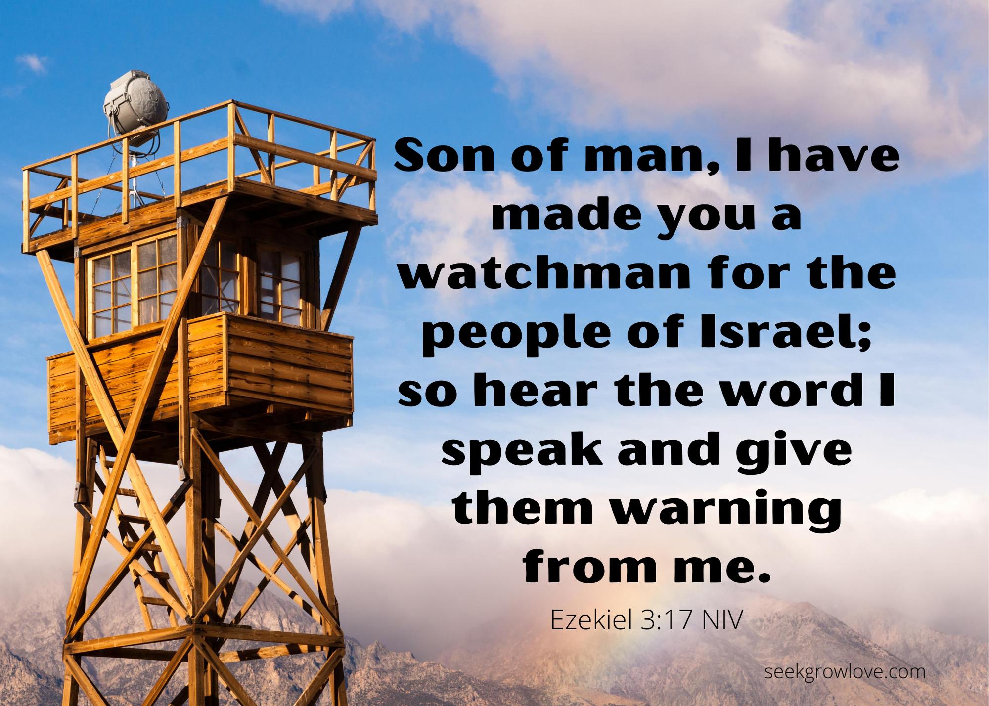 Ezekiel 3 17 NIV sgl