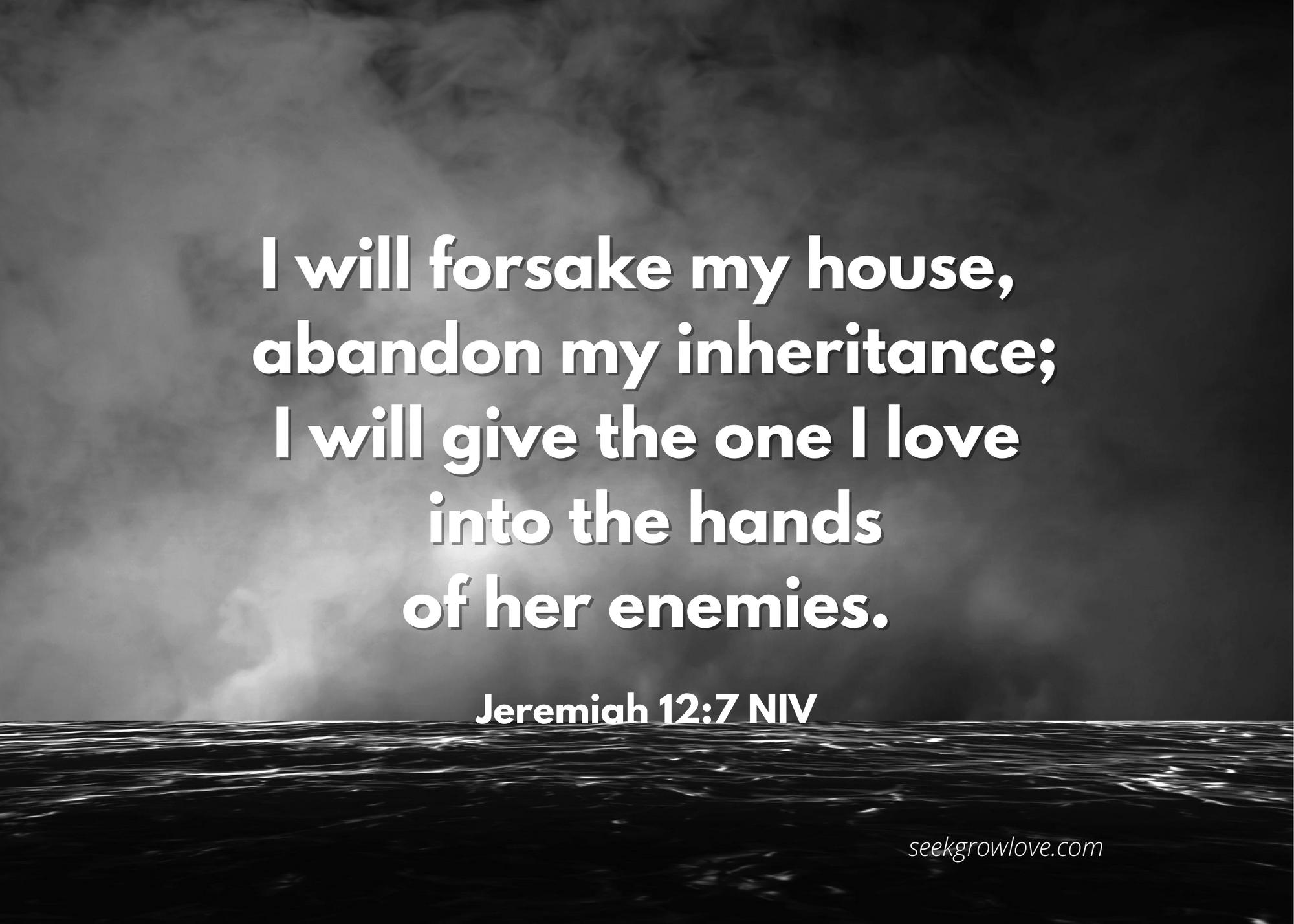 Jeremiah 12 7 NIV sgl
