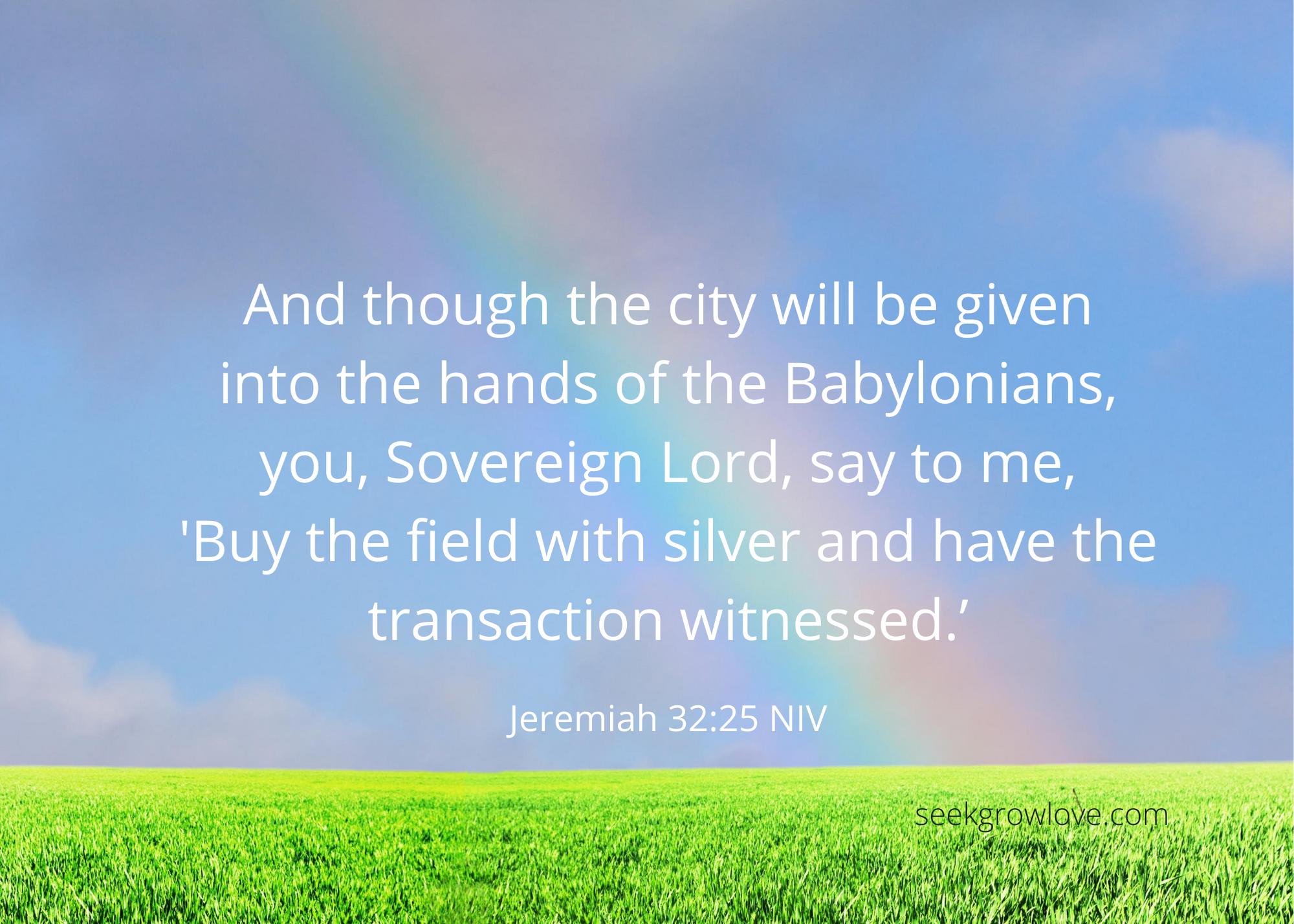 Jeremiah 32 25 NIV sgl