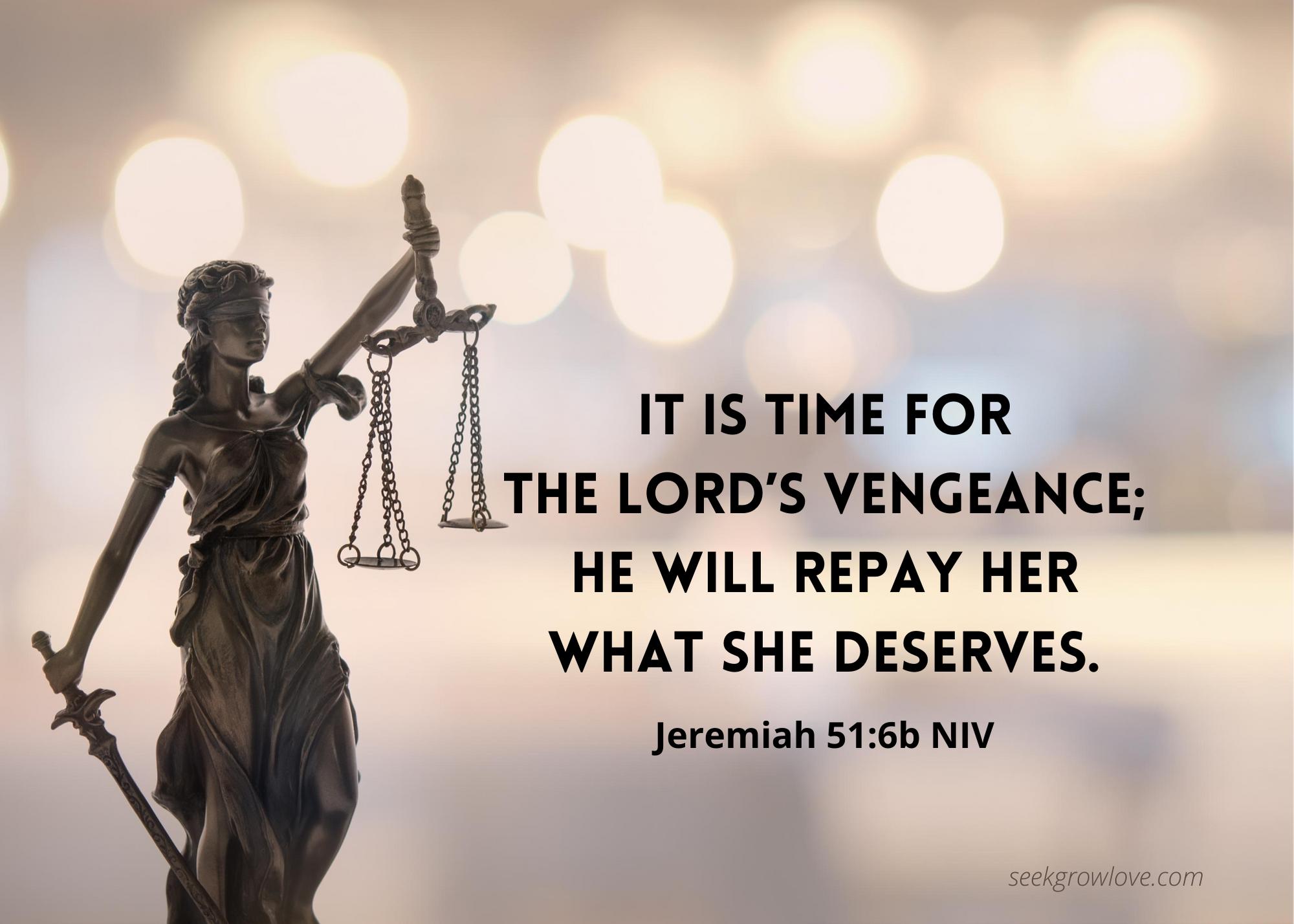 Jeremiah 51 6b NIV sgl