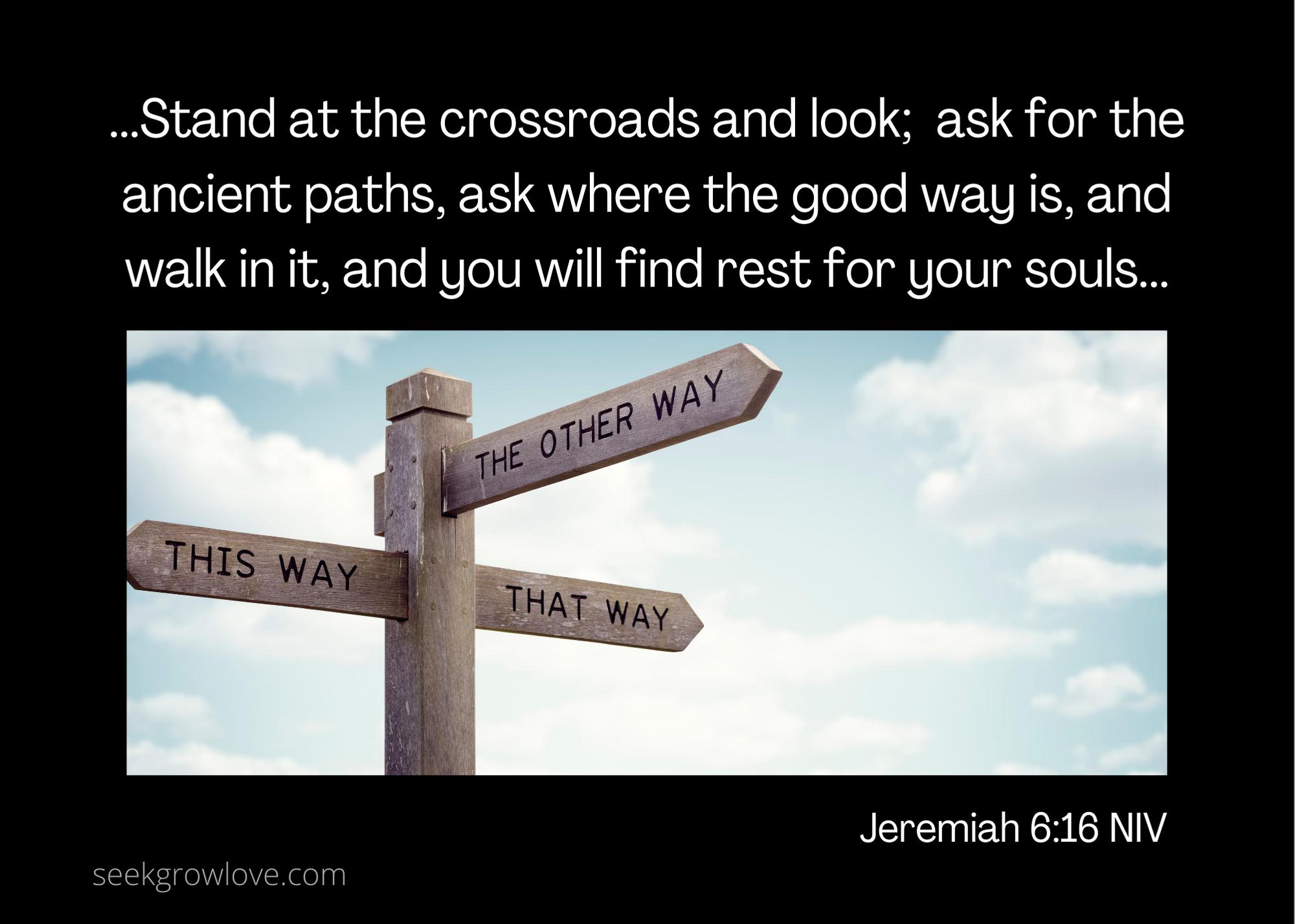 Jeremiah 6 16 NIV sgl