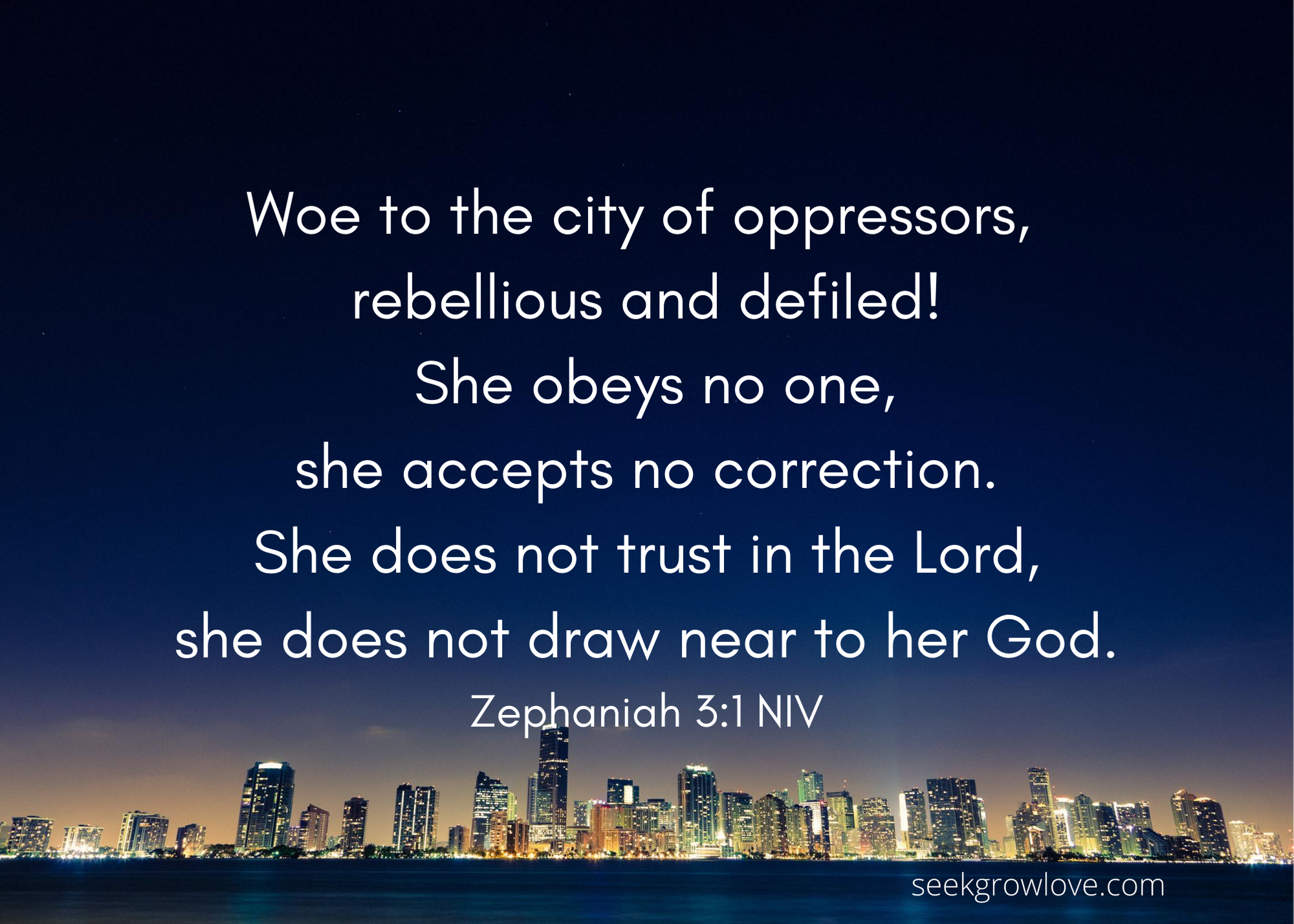 Zephaniah 3 1 NIV sgl