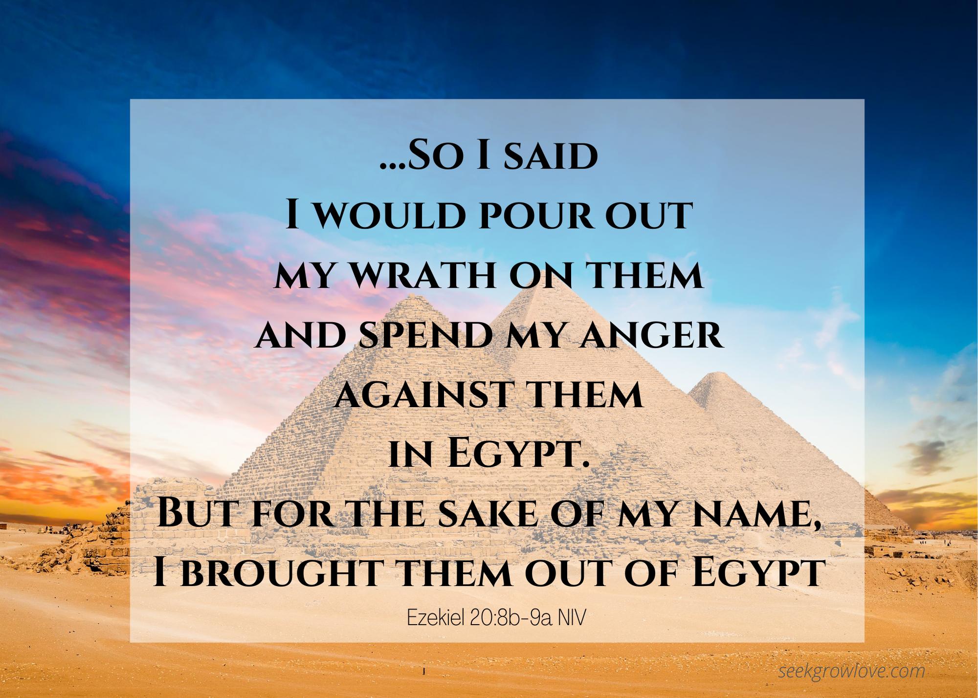 Ezekiel 20 8b 9a NIV sgl